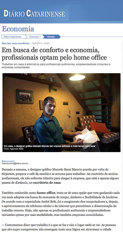 Go Home Office no Diário Catarinense