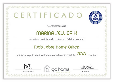 certificado curso home office