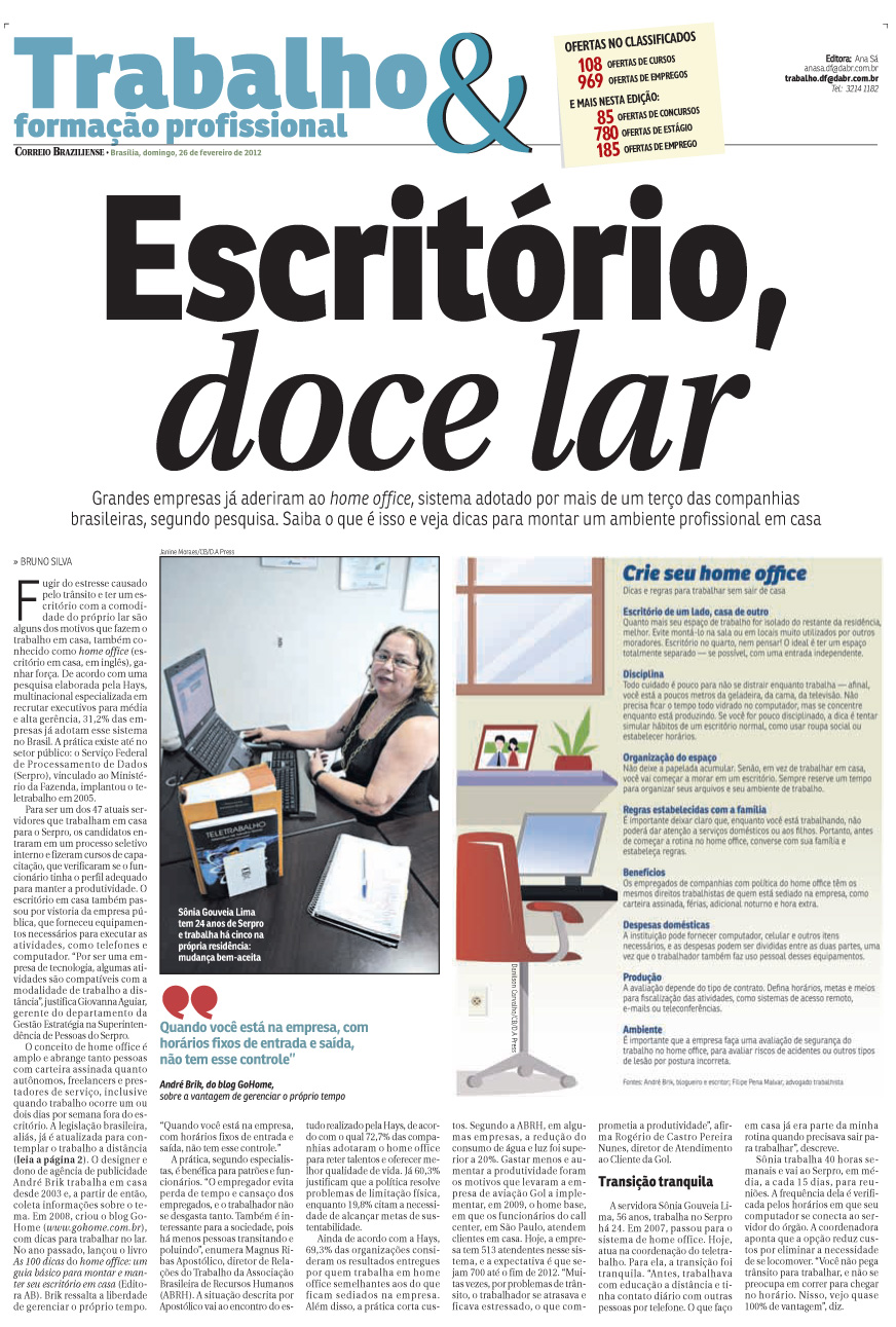 Go Home Office no Correio Braziliense